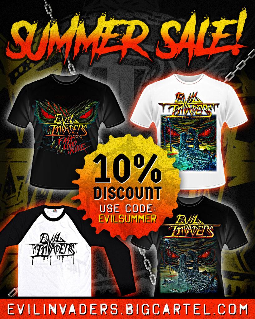 Evil Invaders Summer Sale Promotion