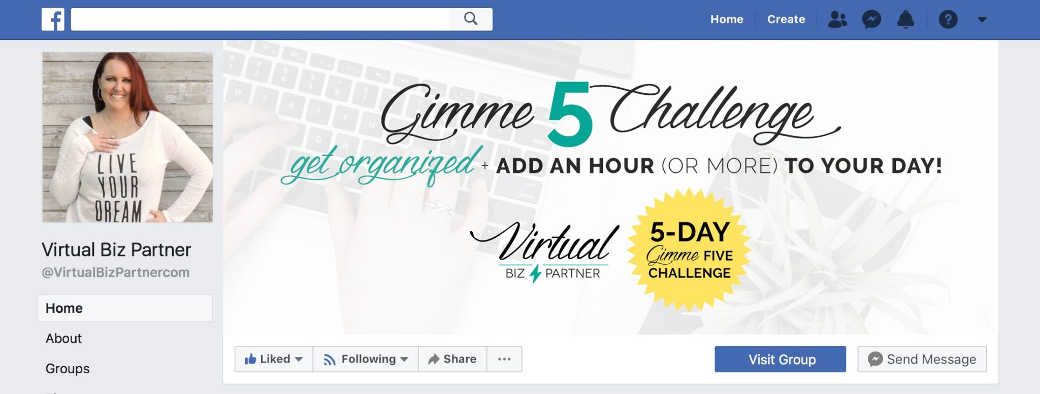 Gimme 5 Campaign Facebook Cover